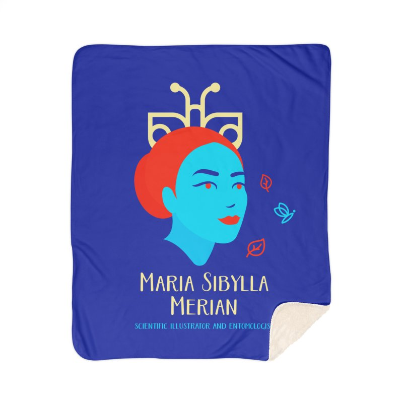 Maria Sibylla Merian Home Sherpa Blanket Blanket by Jana Artist Shop