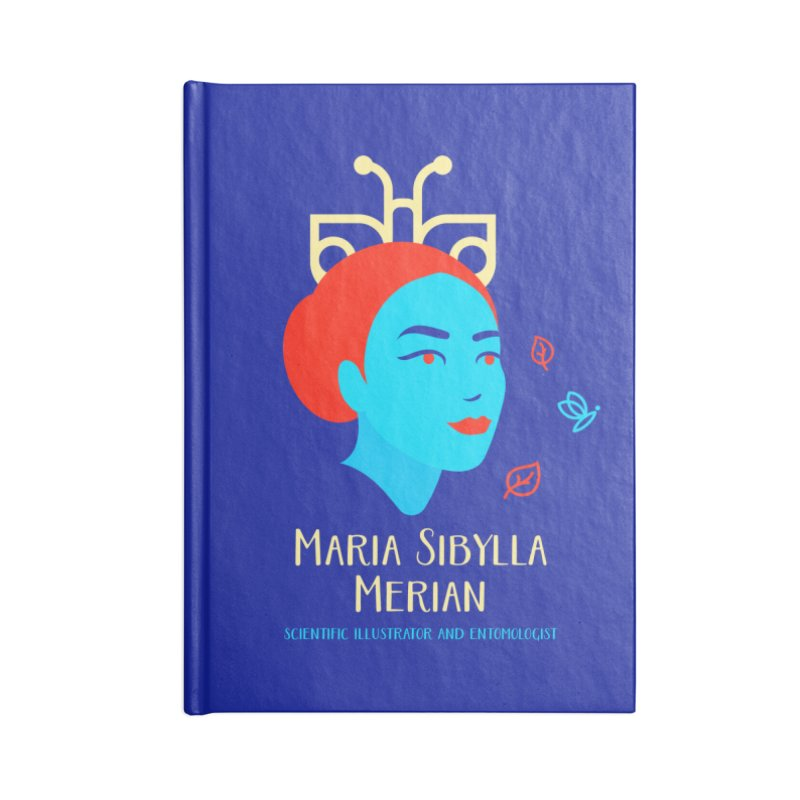 Maria Sibylla Merian Accessories Lined Journal Notebook by Jana Artist Shop