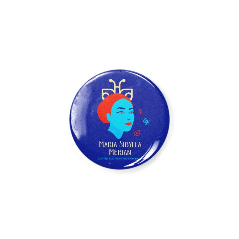 Maria Sibylla Merian Accessories Button by Jana Artist Shop