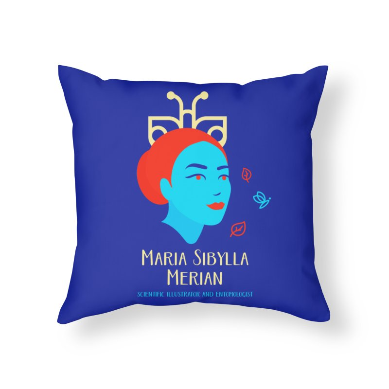 Maria Sibylla Merian Home Throw Pillow by Jana Artist Shop