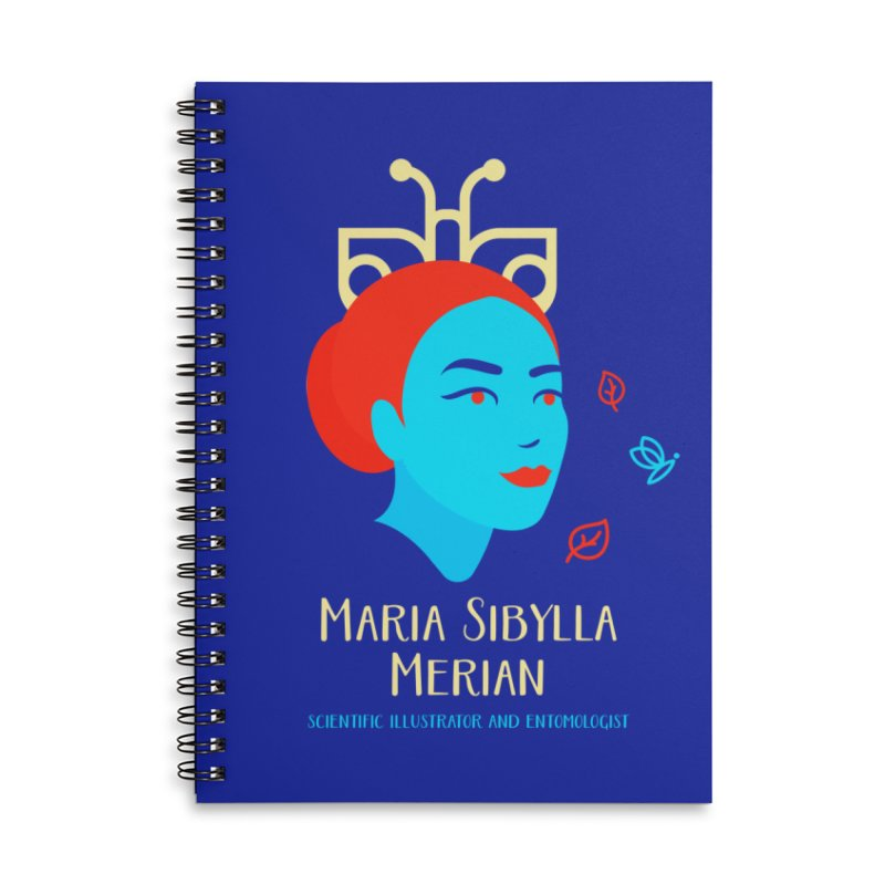 Maria Sibylla Merian Accessories Lined Spiral Notebook by Jana Artist Shop