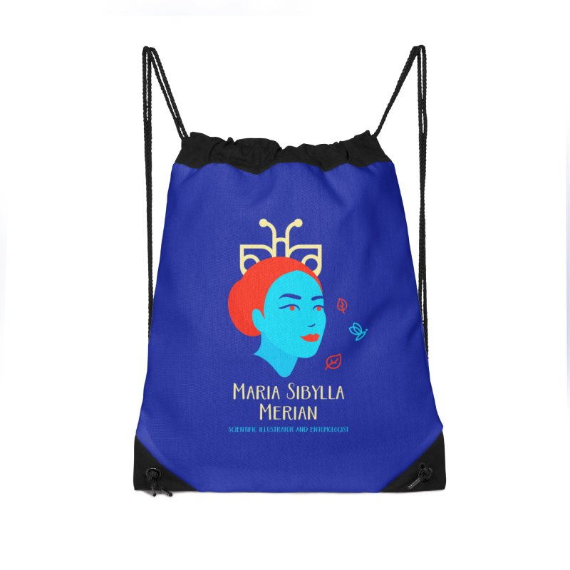 Maria Sibylla Merian Accessories Drawstring Bag Bag by Jana Artist Shop