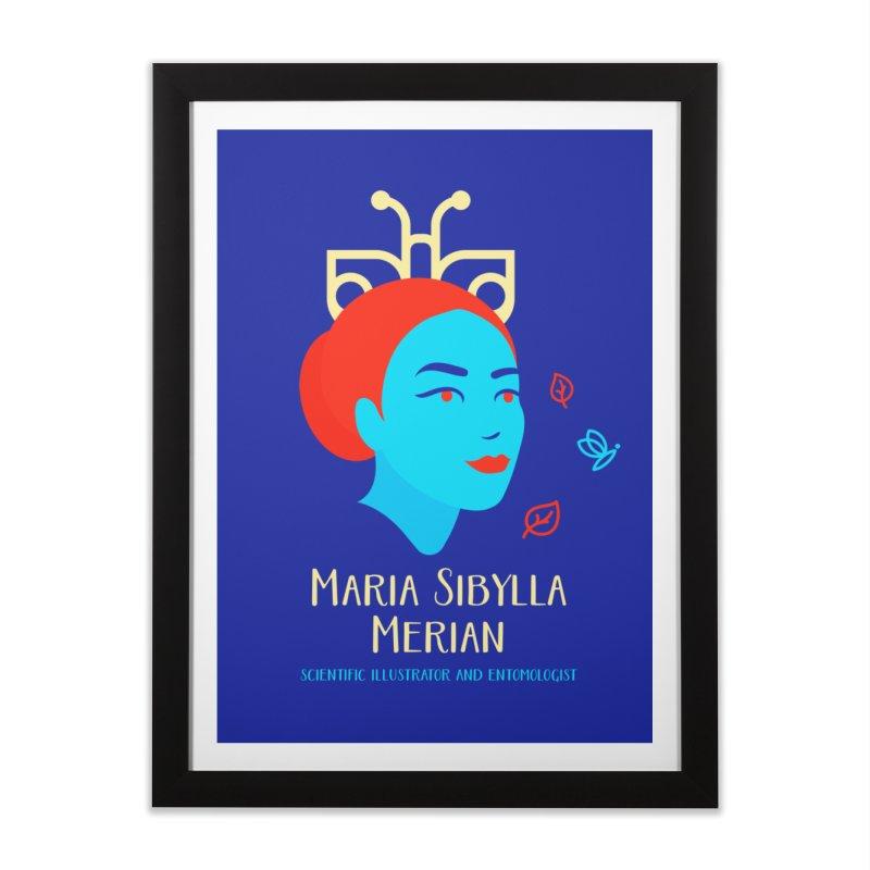 Maria Sibylla Merian Home Framed Fine Art Print by Jana Artist Shop