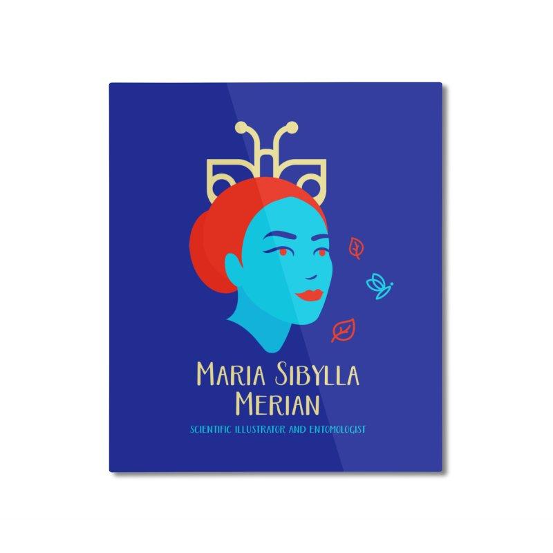 Maria Sibylla Merian Home Mounted Aluminum Print by Jana Artist Shop
