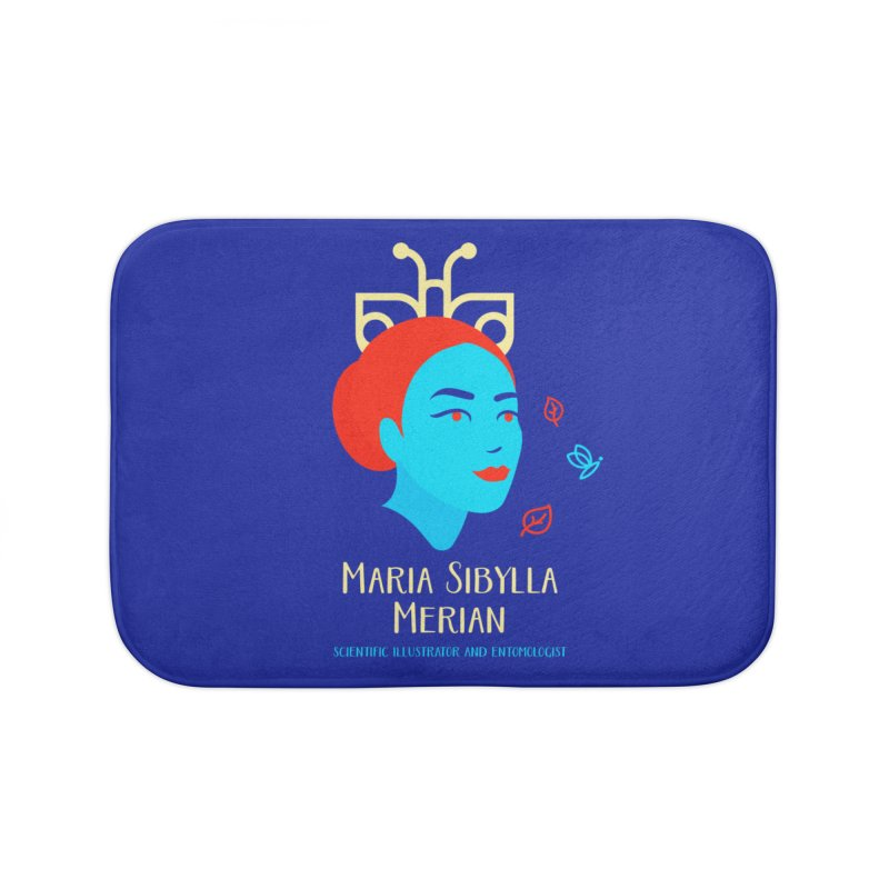 Maria Sibylla Merian Home Bath Mat by Jana Artist Shop