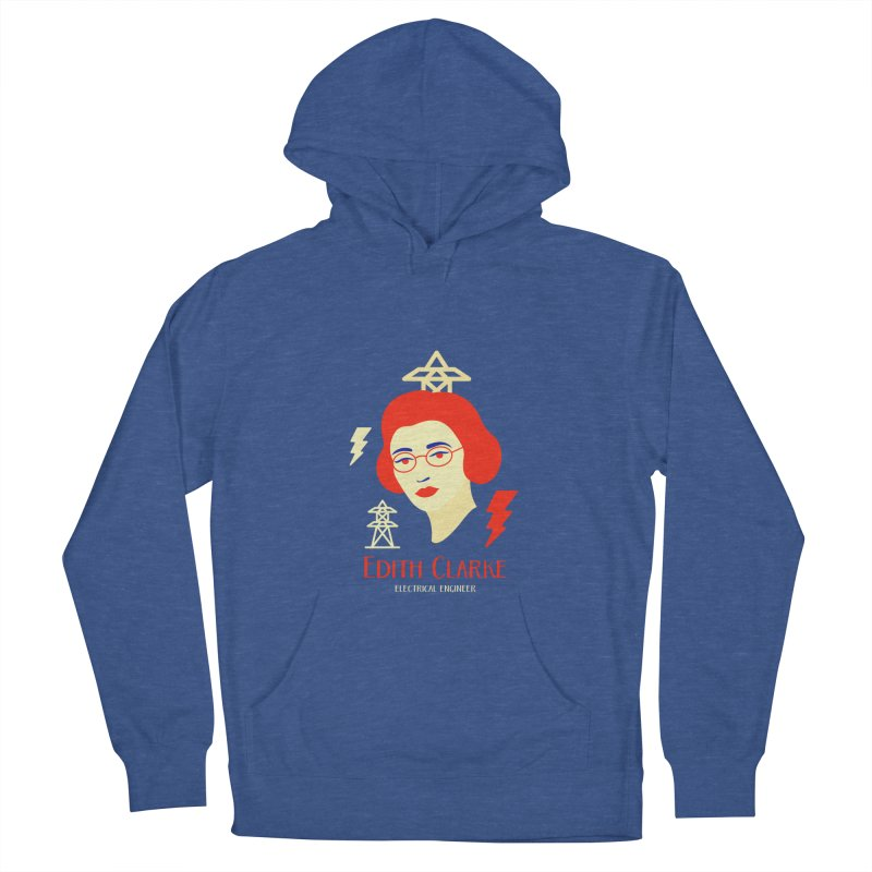 Edith Clarke Men's French Terry Pullover Hoody by Jana Artist Shop