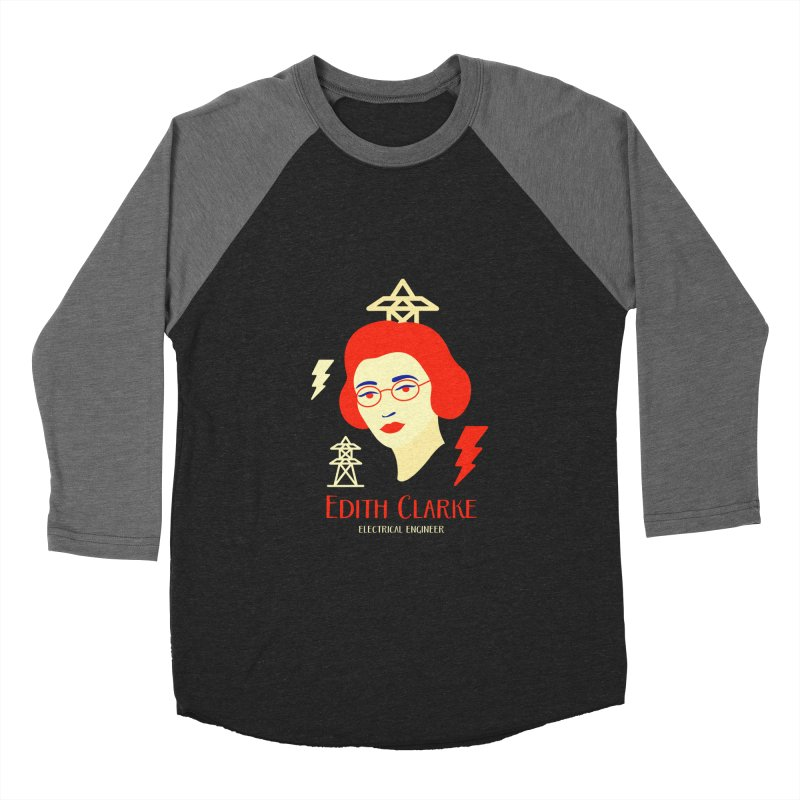 Edith Clarke Women's Baseball Triblend Longsleeve T-Shirt by Jana Artist Shop