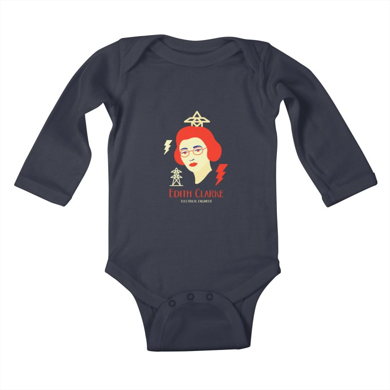 Edith Clarke Kids Baby Longsleeve Bodysuit by Jana Artist Shop