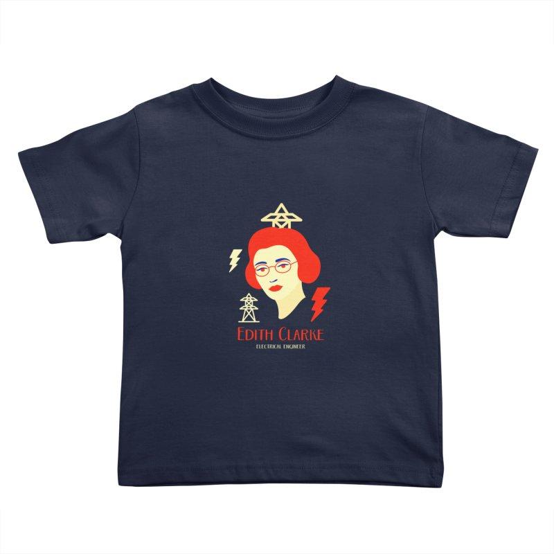Edith Clarke Kids Toddler T-Shirt by Jana Artist Shop