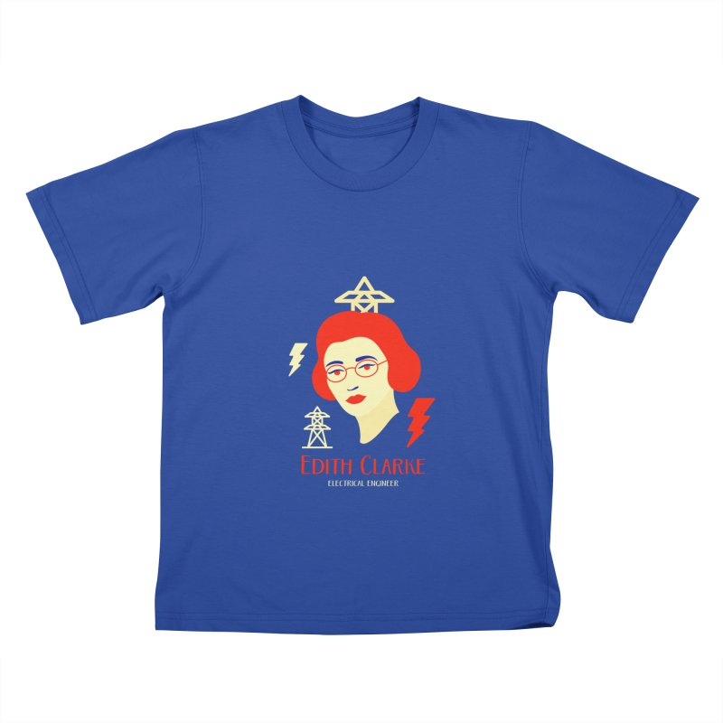 Edith Clarke Kids T-Shirt by Jana Artist Shop