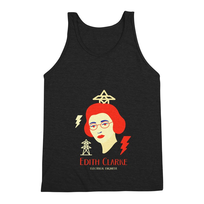 Edith Clarke Men's Triblend Tank by Jana Artist Shop