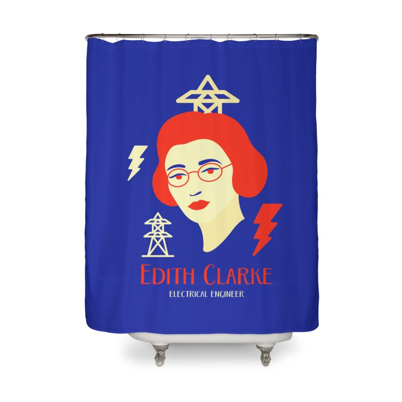 Edith Clarke Home Shower Curtain by Jana Artist Shop
