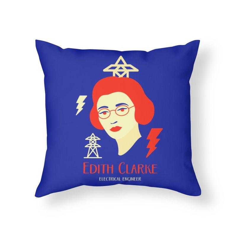 Edith Clarke Home Throw Pillow by Jana Artist Shop