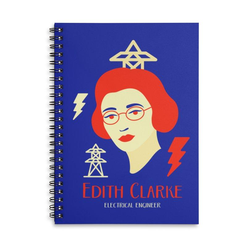 Edith Clarke Accessories Lined Spiral Notebook by Jana Artist Shop