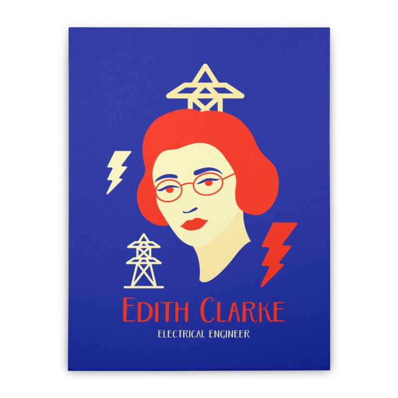 Edith Clarke Home Stretched Canvas by Jana Artist Shop