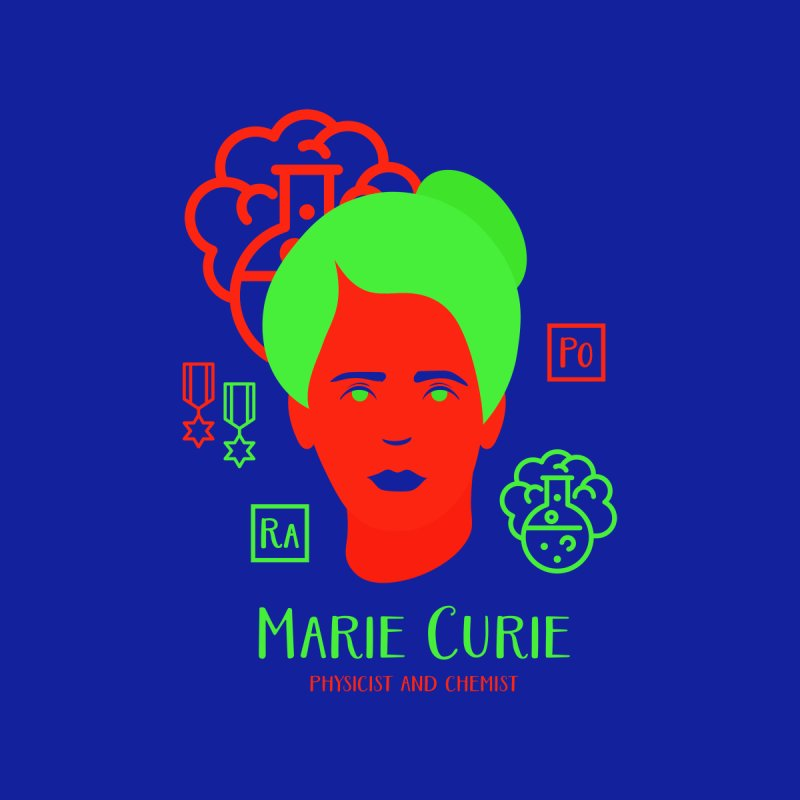 Marie Curie by Jana Artist Shop