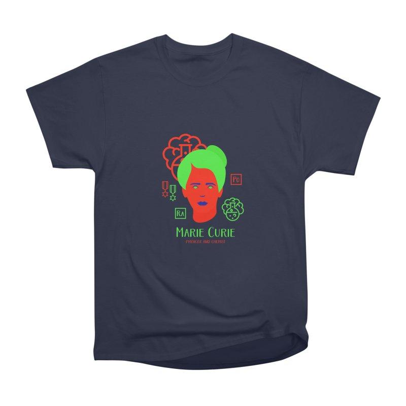 Marie Curie Men's Heavyweight T-Shirt by Jana Artist Shop