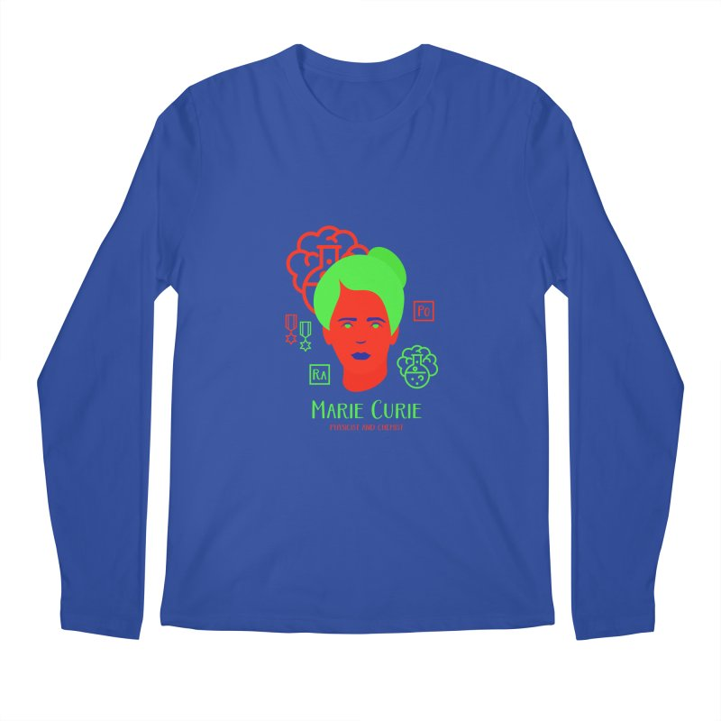 Marie Curie Men's Regular Longsleeve T-Shirt by Jana Artist Shop