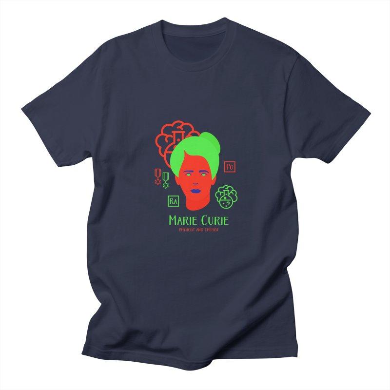 Marie Curie Men's Regular T-Shirt by Jana Artist Shop