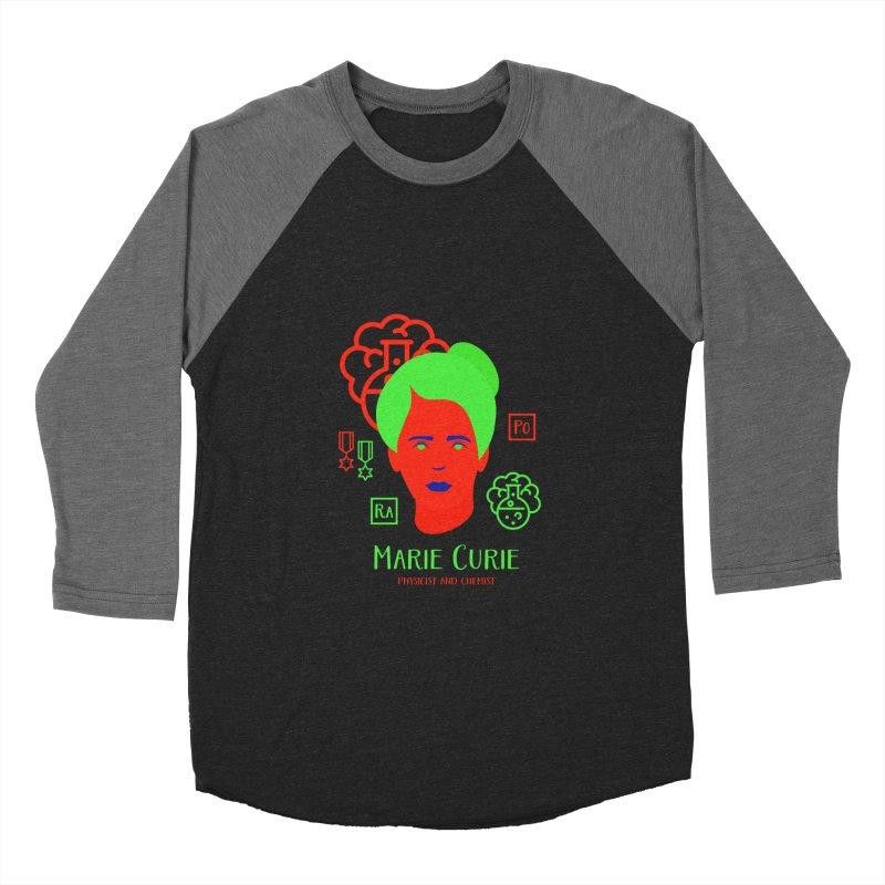 Marie Curie Women's Baseball Triblend Longsleeve T-Shirt by Jana Artist Shop