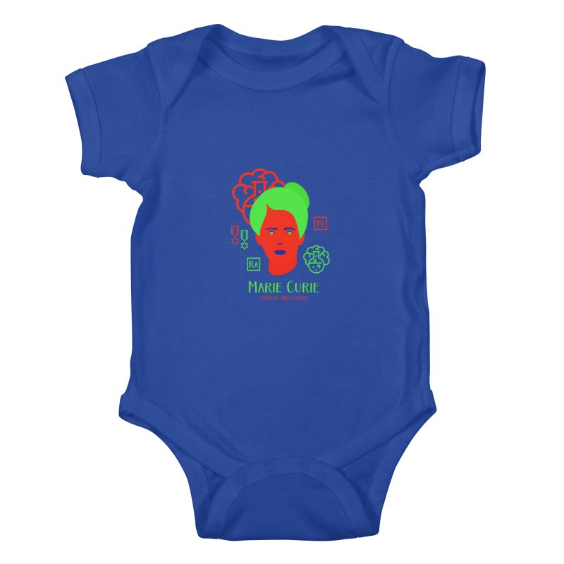 Marie Curie Kids Baby Bodysuit by Jana Artist Shop