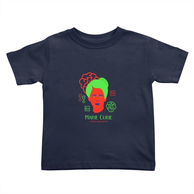 Marie Curie Kids Toddler T-Shirt by Jana Artist Shop