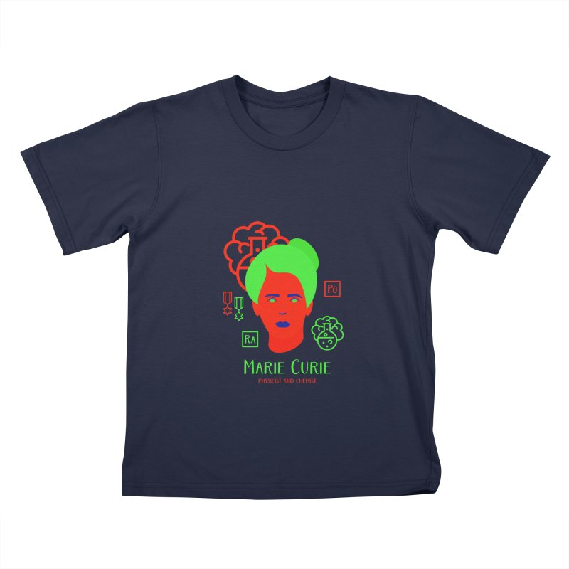 Marie Curie Kids T-Shirt by Jana Artist Shop