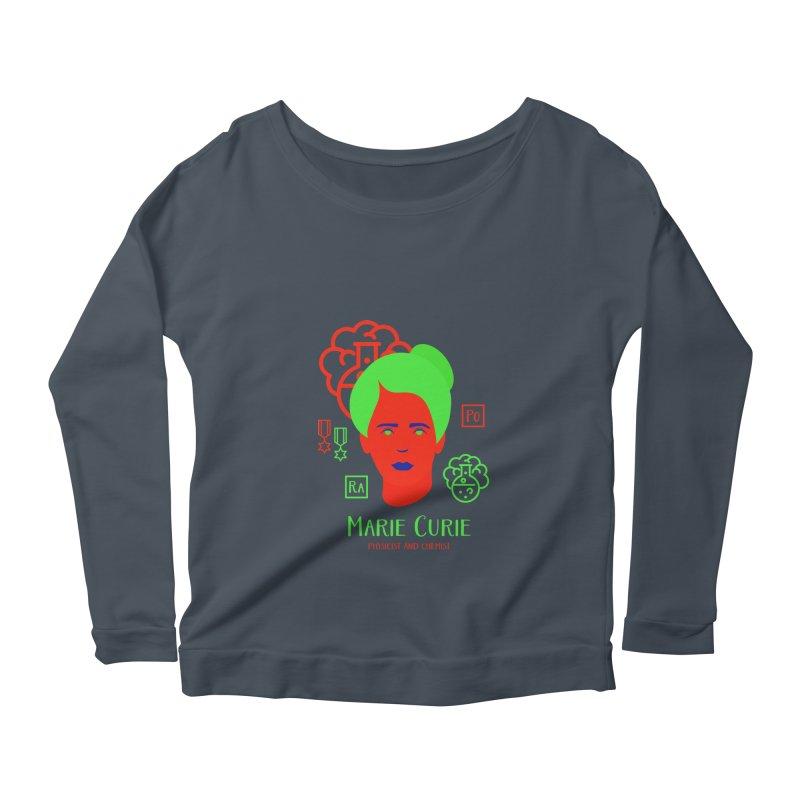 Marie Curie Women's Scoop Neck Longsleeve T-Shirt by Jana Artist Shop