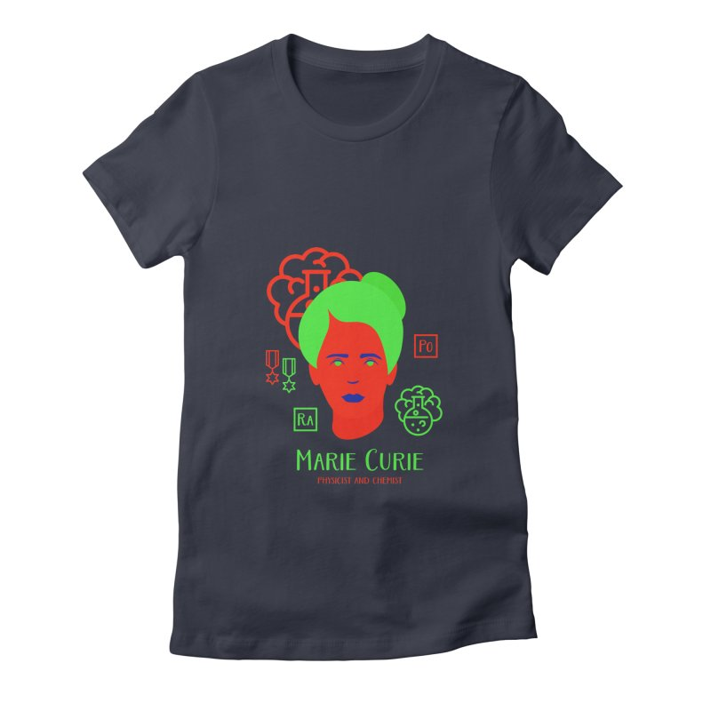 Marie Curie Women's Fitted T-Shirt by Jana Artist Shop