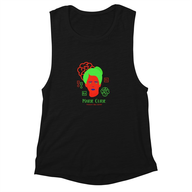 Marie Curie Women's Muscle Tank by Jana Artist Shop