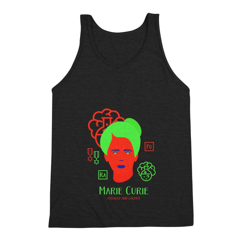 Marie Curie Men's Triblend Tank by Jana Artist Shop