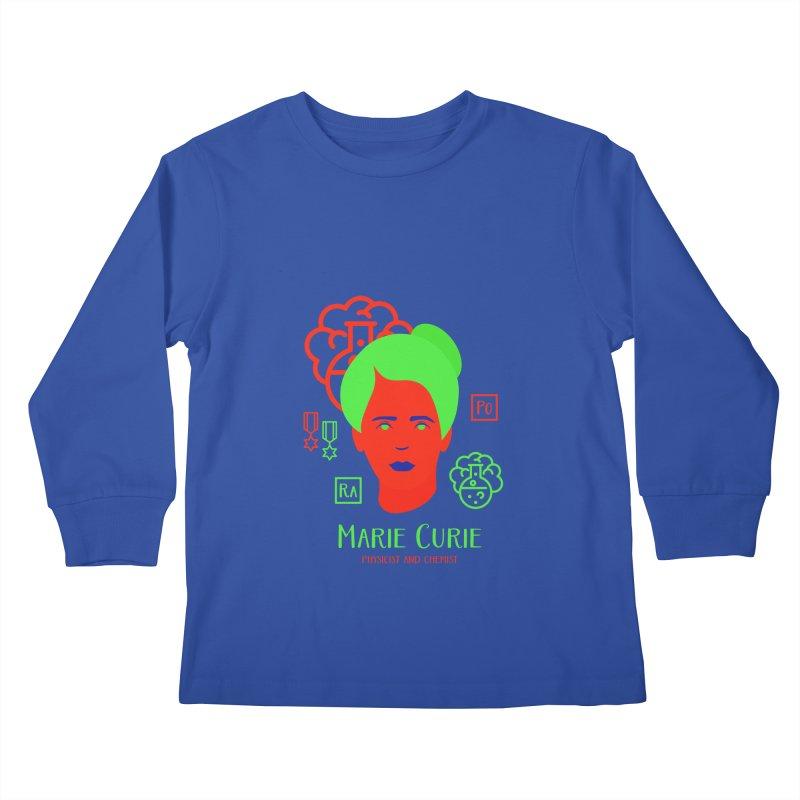 Marie Curie Kids Longsleeve T-Shirt by Jana Artist Shop