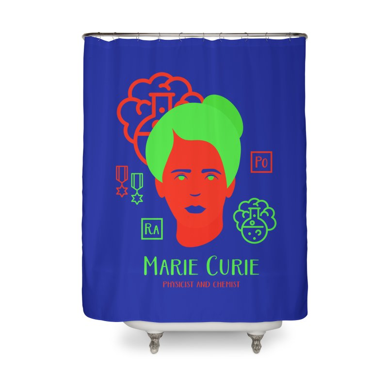 Marie Curie Home Shower Curtain by Jana Artist Shop