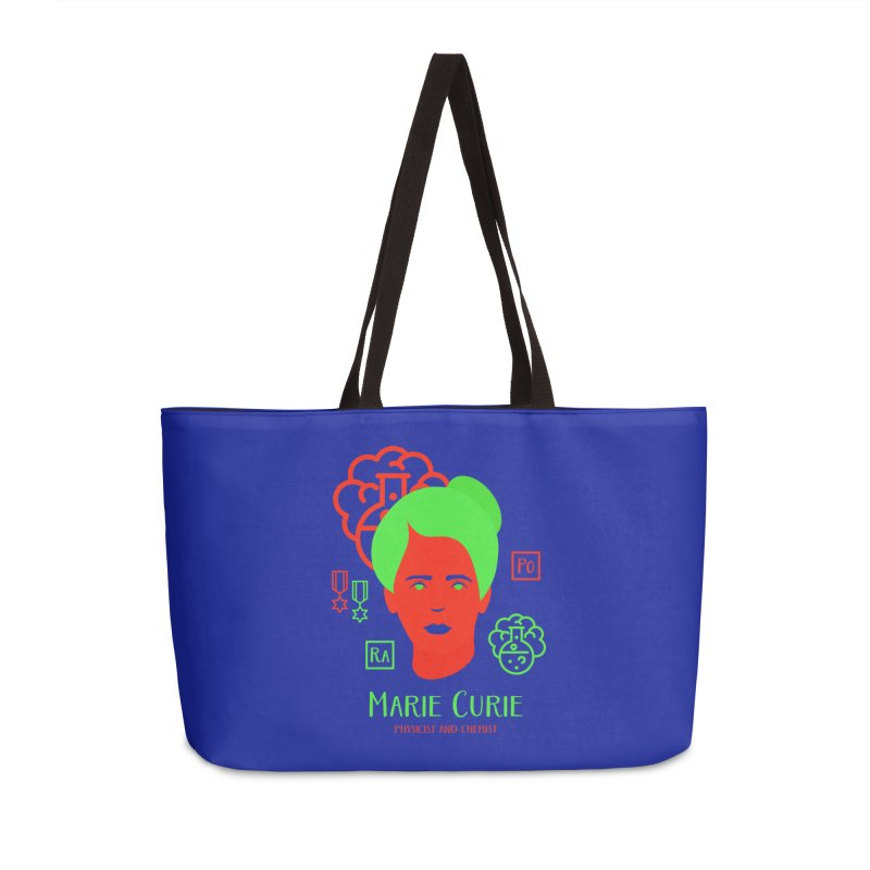 Marie Curie Accessories Weekender Bag Bag by Jana Artist Shop