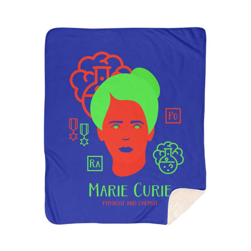 Marie Curie Home Sherpa Blanket Blanket by Jana Artist Shop