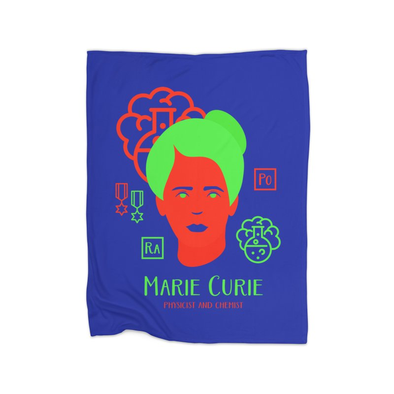 Marie Curie Home Blanket by Jana Artist Shop