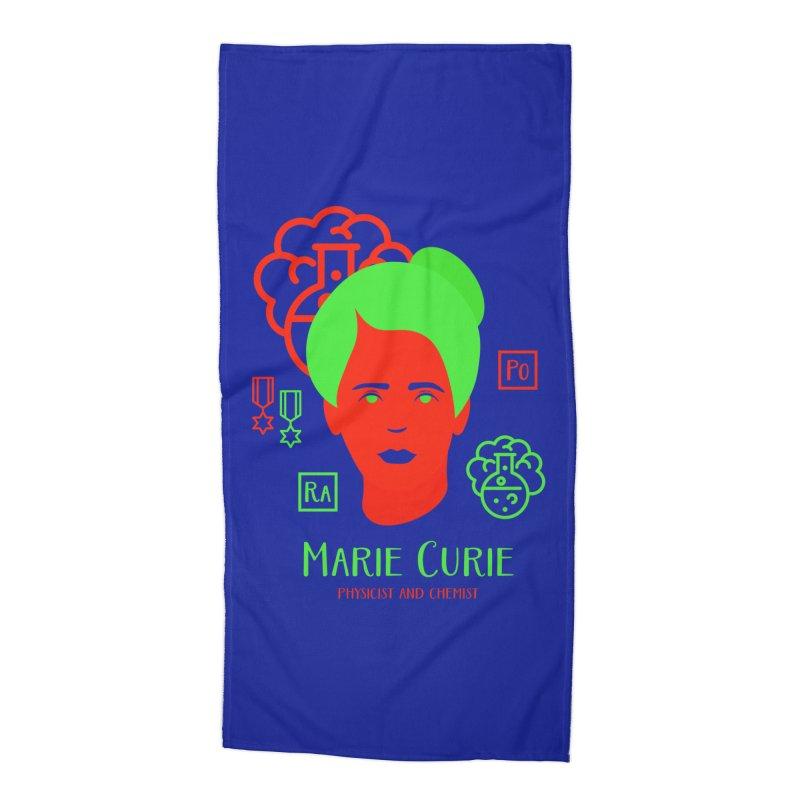 Marie Curie Accessories Beach Towel by Jana Artist Shop