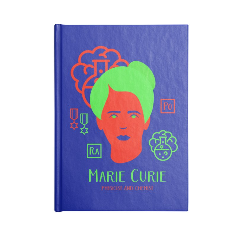 Marie Curie Accessories Lined Journal Notebook by Jana Artist Shop