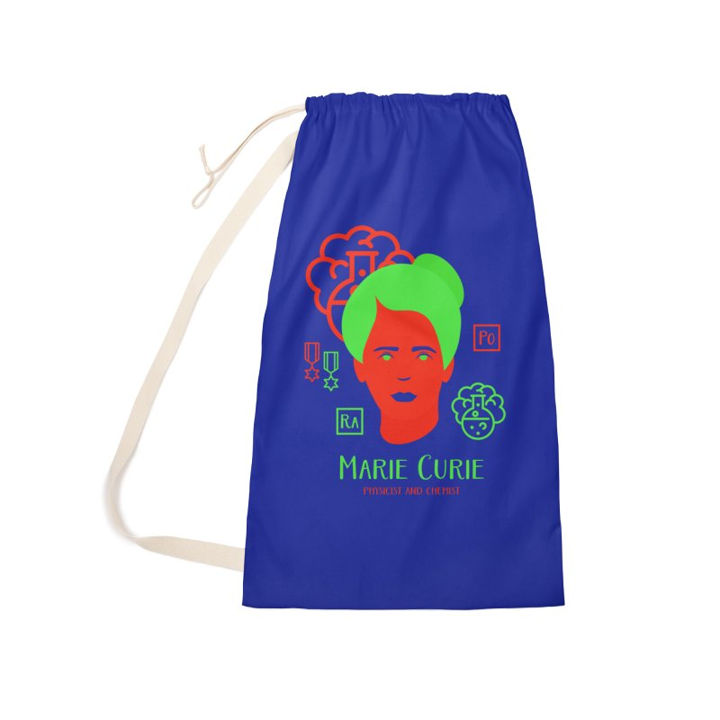 Marie Curie Accessories Laundry Bag Bag by Jana Artist Shop