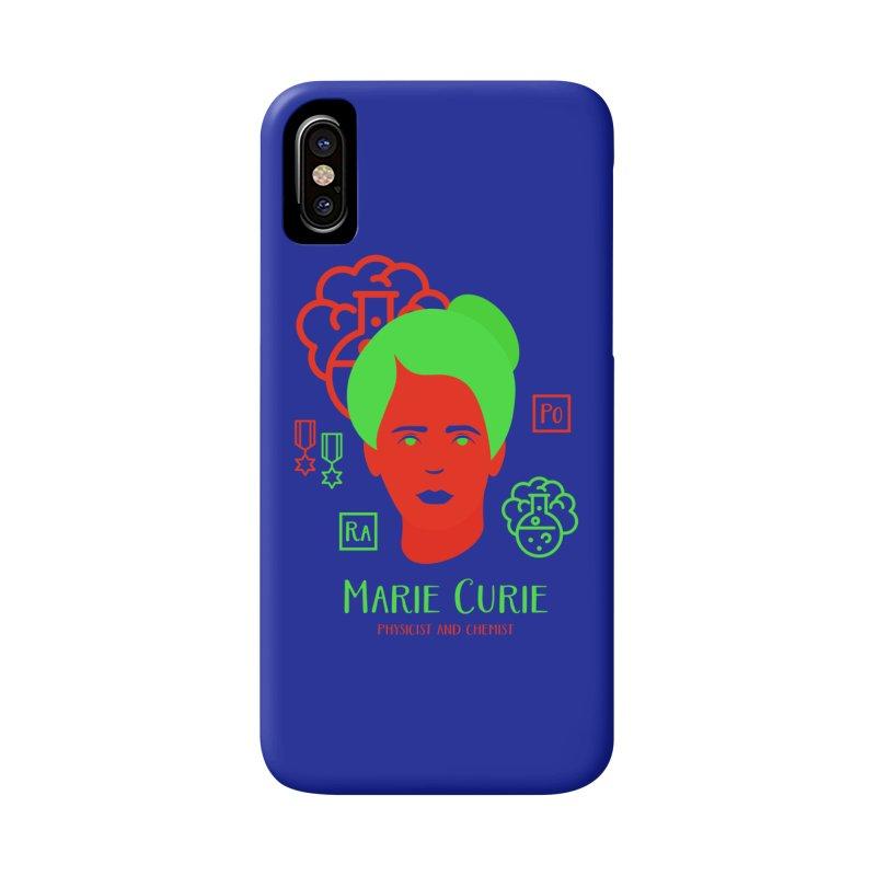 Marie Curie Accessories Phone Case by Jana Artist Shop