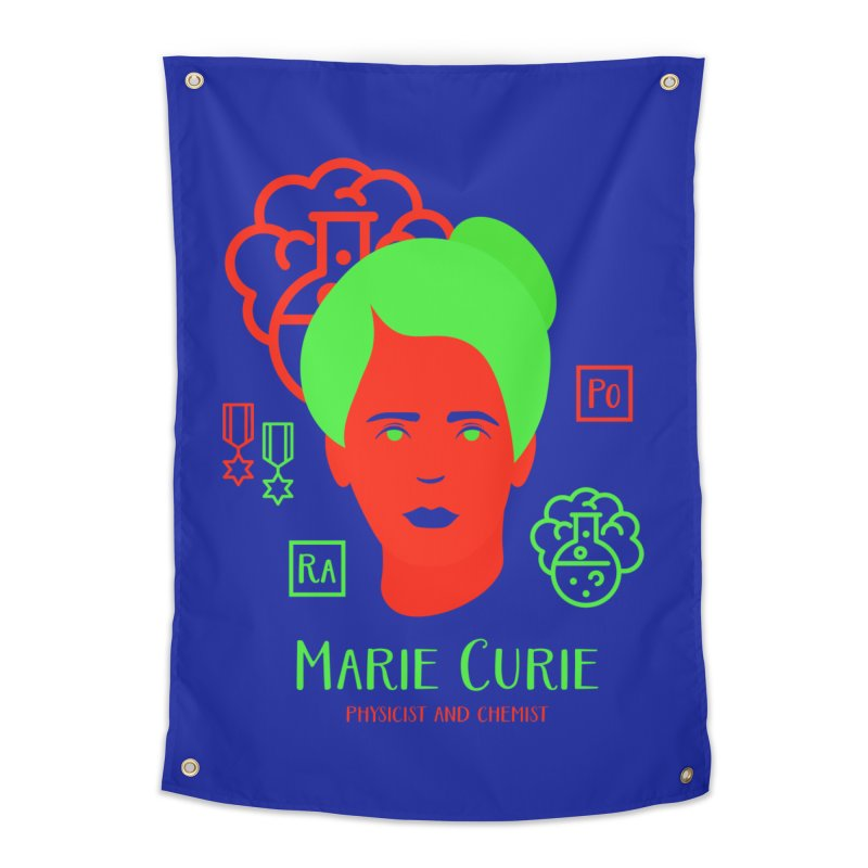 Marie Curie Home Tapestry by Jana Artist Shop