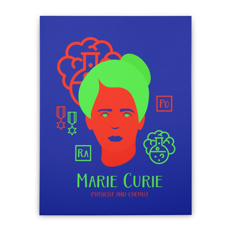 Marie Curie Home Stretched Canvas by Jana Artist Shop