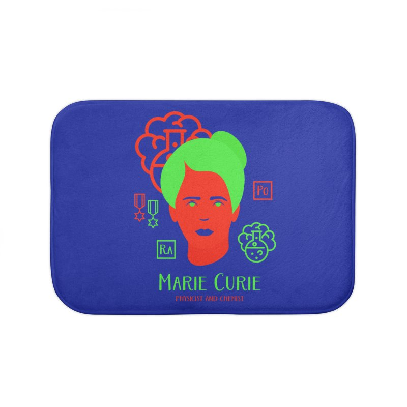 Marie Curie Home Bath Mat by Jana Artist Shop