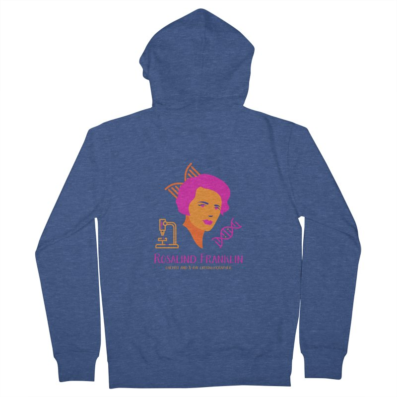 Rosalind Franklin Men's French Terry Zip-Up Hoody by Jana Artist Shop