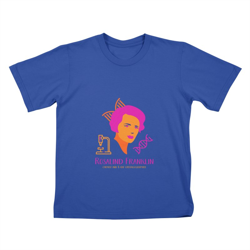Rosalind Franklin Kids T-Shirt by Jana Artist Shop