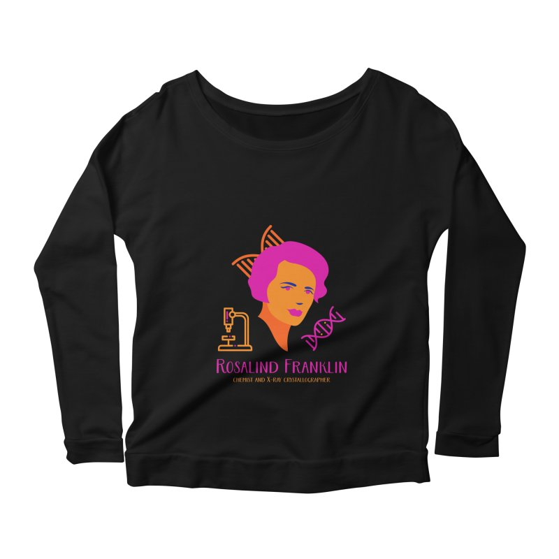 Rosalind Franklin Women's Longsleeve Scoopneck  by Jana Artist Shop