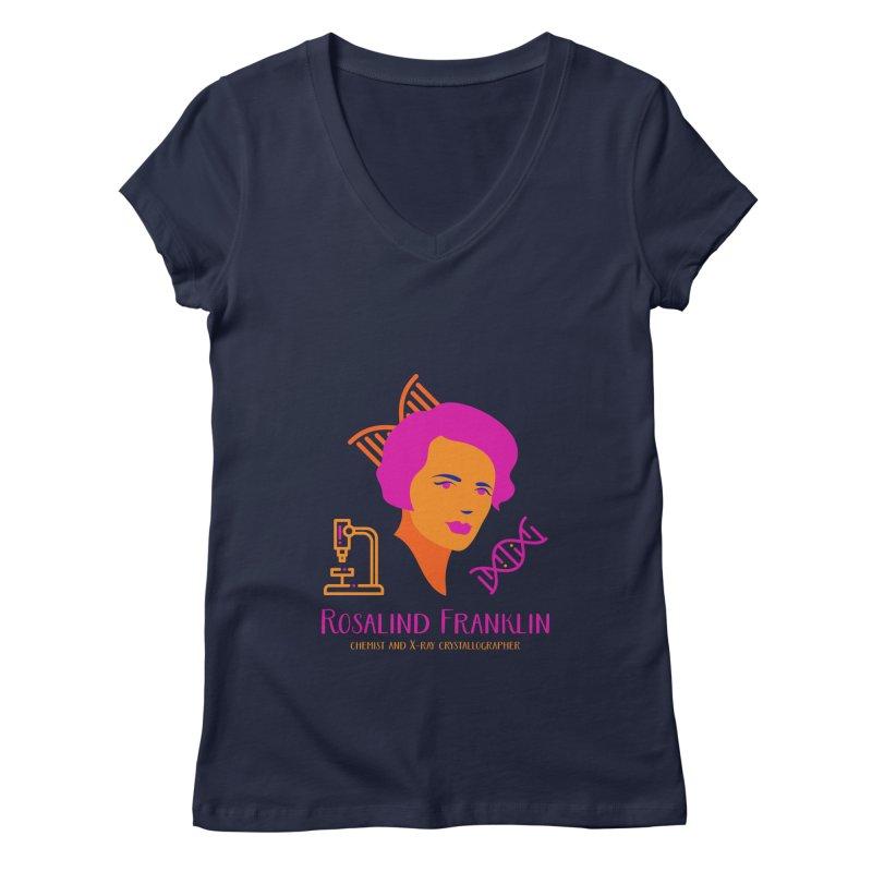 Rosalind Franklin Women's V-Neck by Jana Artist Shop