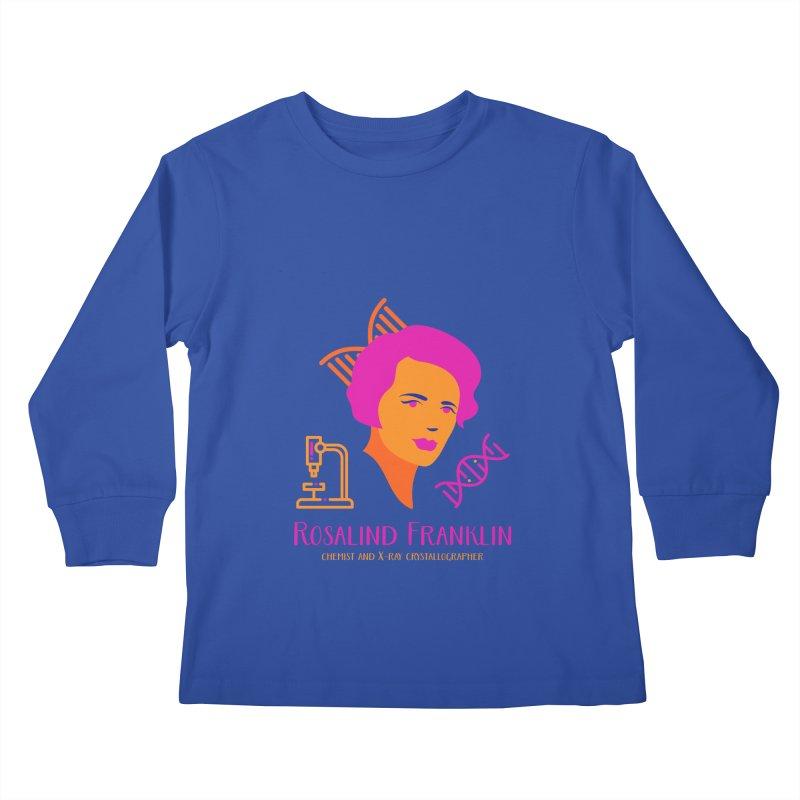 Rosalind Franklin Kids Longsleeve T-Shirt by Jana Artist Shop