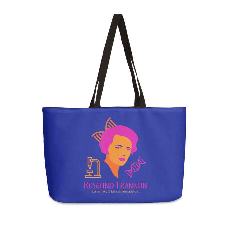 Rosalind Franklin Accessories Weekender Bag Bag by Jana Artist Shop