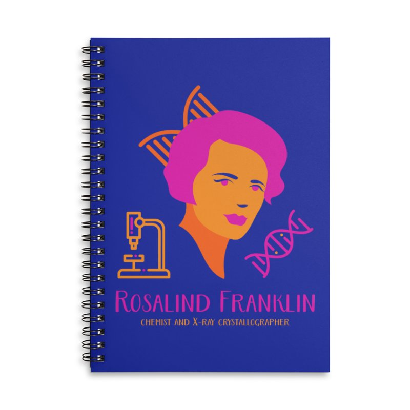Rosalind Franklin Accessories Lined Spiral Notebook by Jana Artist Shop